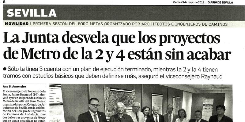 Jornada Inaugural «Red de Metro proyectados en Sevilla 1969-2011» del Foro METAS