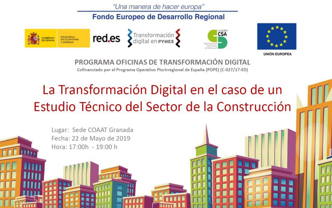 Granada. Jornada «La transformación digital en el caso de un estudio técnico del sector de la construcción»