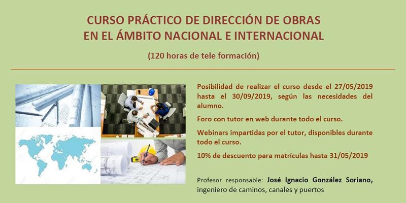 """Curso práctico de """"Dirección de Obras en el ámbito Nacional e Internacional"""" (Online)"""