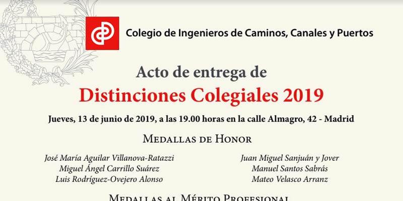 Madrid. Distinciones y Medallas Colegiales 2019