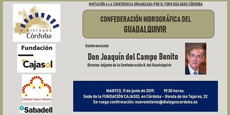 """Córdoba. Conferencia """"CONFEDERACIÓN HIDROGRÁFICA DEL GUADALQUIVIR"""""""