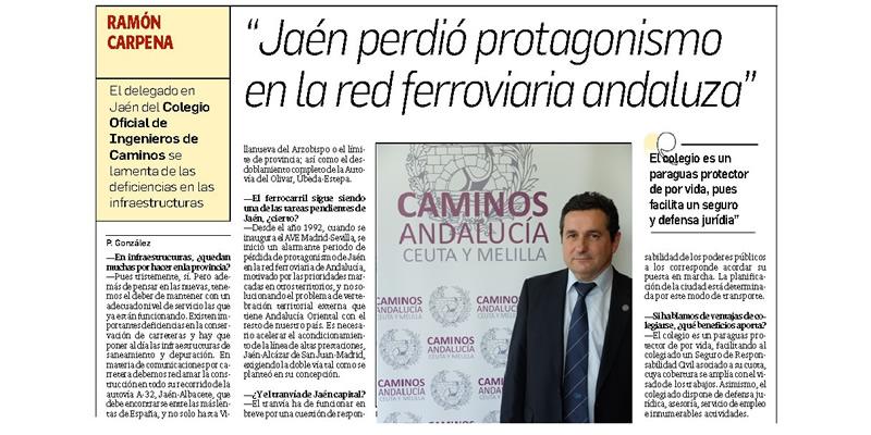 «Jaén perdió protagonismo en la red ferroviaria andaluza»