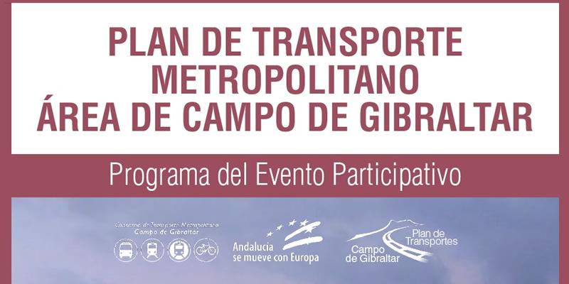 Cádiz. Evento Participativo PLAN DE TRANSPORTE METROPOLITANO ÁREA DE CAMPO DE GIBRALTAR