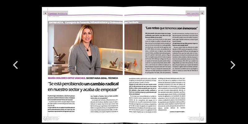 Disponible la revista de Caminos Andalucía ABR JUN 2019