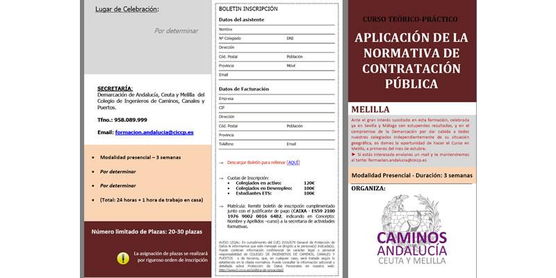 Melilla. Curso «Aplicación de la Normativa de Contratación Pública»