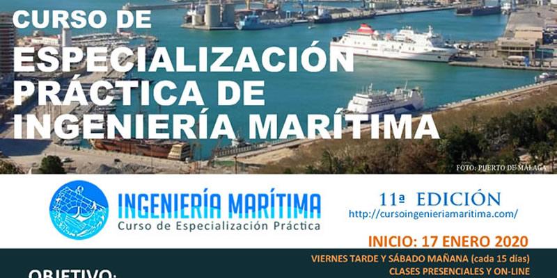Presencial Online. XI Edición Curso Especialización Práctica de Ingeniería Marítima