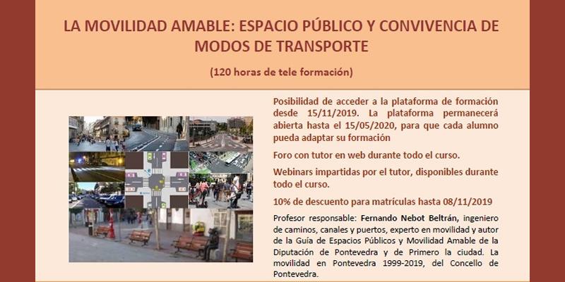 OnLine. Curso «La Movilidad amable: Espacio público y convivencia de modos de transporte»