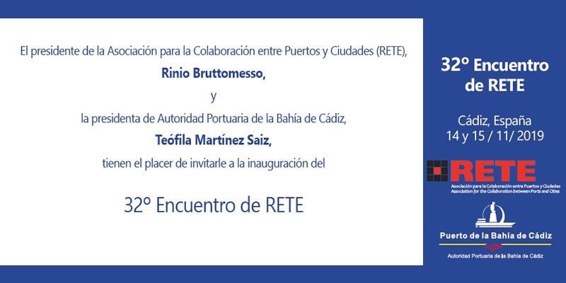 Cádiz. 32º Encuentro de RETE, Seminario y Forúm