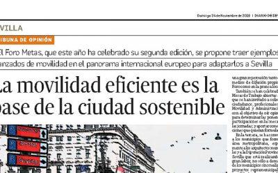 «La movilidad eficiente es la  base de la ciudad sostenible» por ANTONIO BARRIONUEVO (Director del Foro METAS)