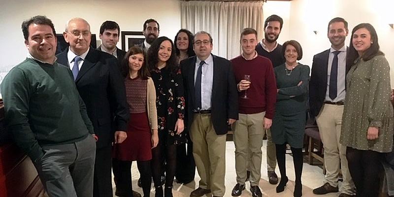 Cena íntima de colegiados en Córdoba para dar la bienvenida a la Navidad
