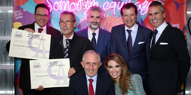 Sorteos, música y reconocimientos para los colegiados en una cena navideña con más de 60 personas en Almería