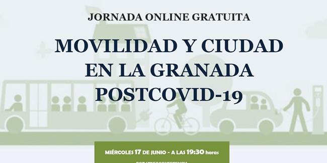 Jornada Online Gratuita Sobre Movilidad y Ciudad en la Granada postCOVID-19