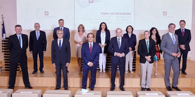 Miguel Ángel Carrillo toma posesión como presidente del Colegio de Ingenieros de Caminos, Canales y Puertos