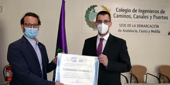 Premio de 1.000 euros al Mejor Expediente de la cuarta promoción del Máster de Ingeniería de Caminos, Canales y Puertos de la Universidad de Granada