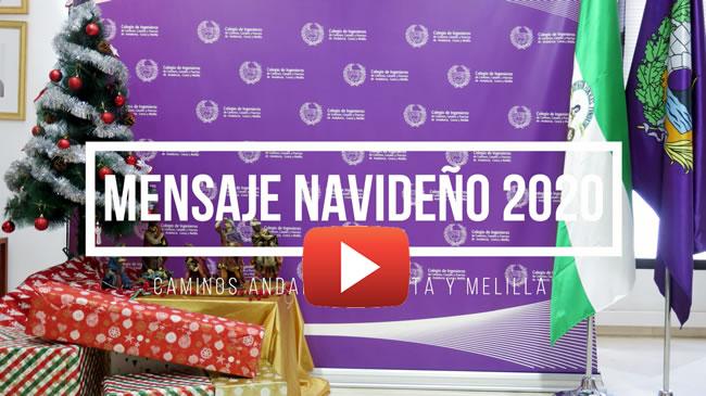 VIDEO. MENSAJE NAVIDEÑO 2020 – Luis Moral Ordóñez, Decano Caminos Andalucía