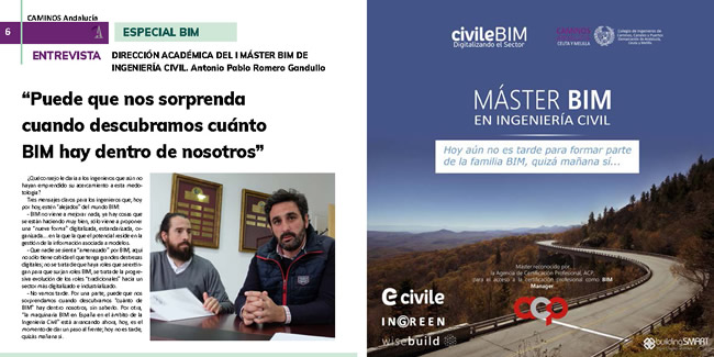 Disponible la revista de Caminos Andalucía · ESPECIAL BIM