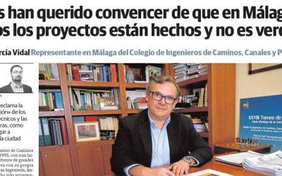 Ángel García Vidal: «Nos han querido convencer de que en Málaga todos los proyectos están hechos y no es verdad»