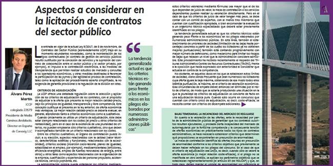 ESPECIAL BAJAS TEMERARIAS: «Aspectos a considerar en la licitación de contratos del sector público»