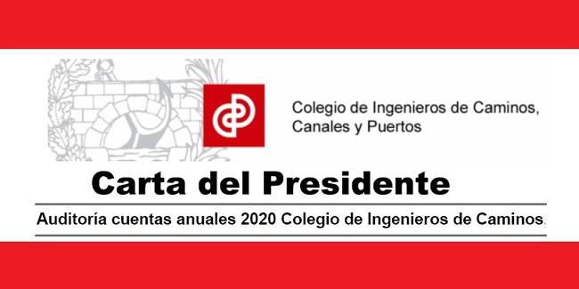 Auditoría cuentas anuales 2020 Colegio de Ingenieros de Caminos, Canales y Puertos