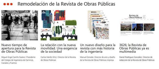 Remodelación de la Revista de Obras Públicas