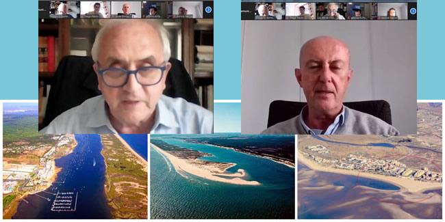 El profesor Javier Enríquez analiza las complejas soluciones técnicas ante el dinamismo de la costa onubense