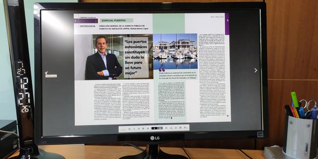 Disponible la revista de Caminos Andalucía · ESPECIAL PUERTOS