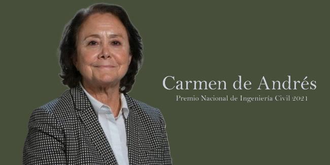 MITMA concede el Premio Nacional de Ingeniería Civil 2021 a Carmen de Andrés, primera mujer ingeniera de Caminos, Canales y Puertos en España