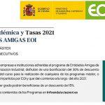 EOI. Oferta Académica y Tasas 2021 para programas MÁSTER y EJECUTIVOS