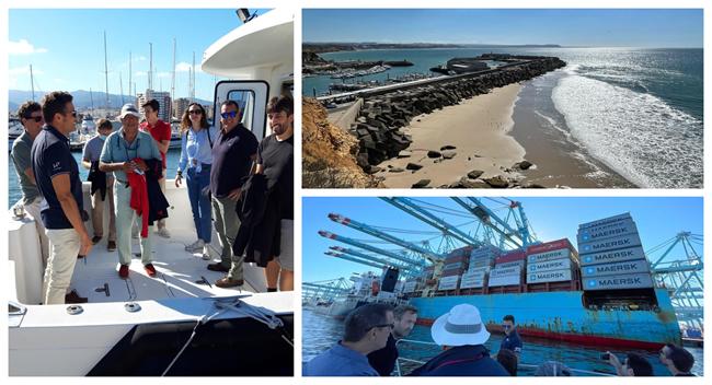 Visita al Puerto de Algeciras del Curso Ingeniería Marítima
